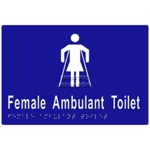 View ML16266 Braille Sign, Female Ambulant Toilet details.