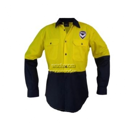 View Hi-Vis Long Sleeve Button Shirt Yellow details.