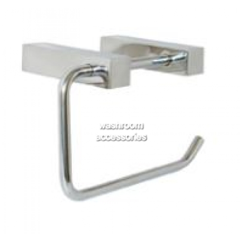View ML6048 Single Toilet Roll Holder Square Mounting details.