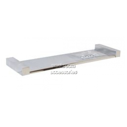 View ML6084 Bathroom Shelf with Soap Dish Square Mounting details.
