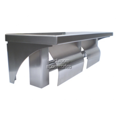 View ML949 Double Toilet Roll Holder with Shelf details.