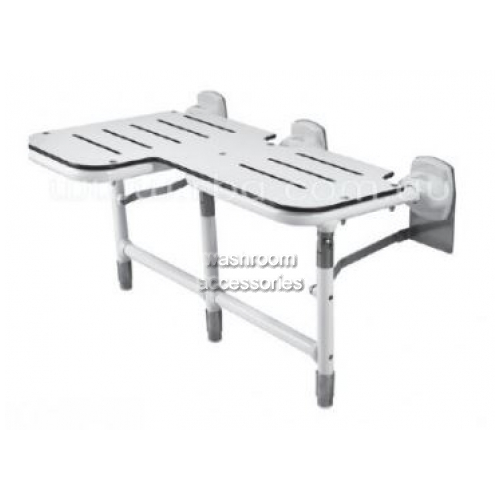 View Folding Shower Seat B918116 Bariatric with legs details.