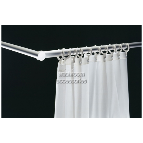 View Shower Curtain Rail with Rings details.