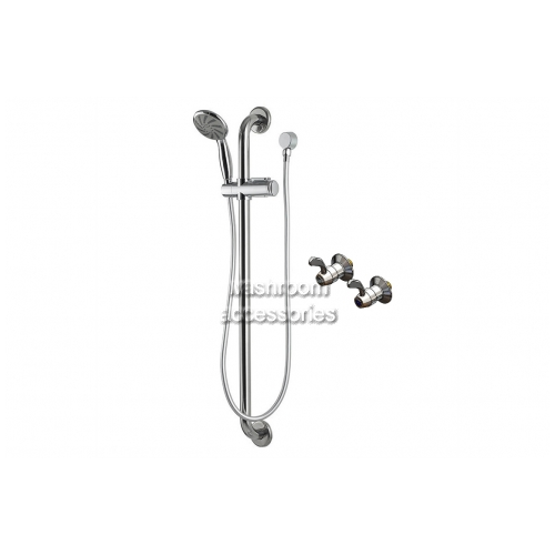 View Recess Set with Hand Held Shower, Hose and Grab Rail details.