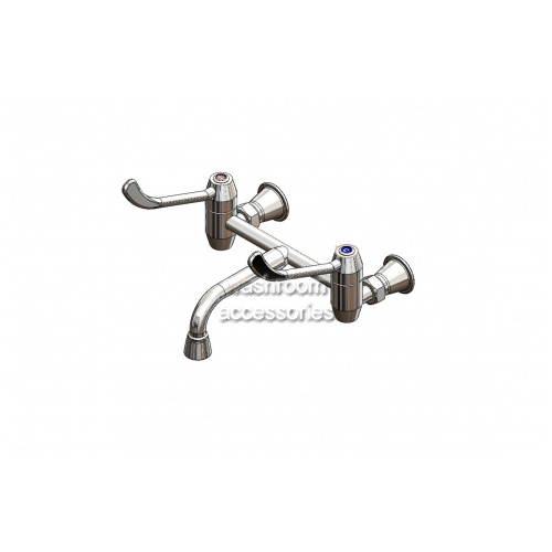 View HOS420 Wall Mixing Set, Fixed Spout, Lever Action details.