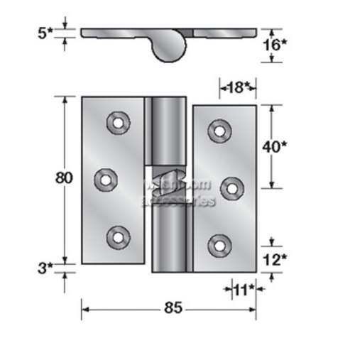 View Gravity Hinge Single Screw Fix details.
