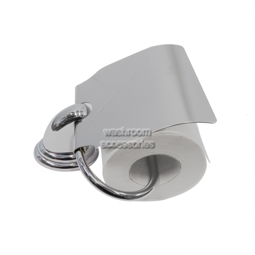 View Avalon Toilet Roll Holder Single with Hood details.