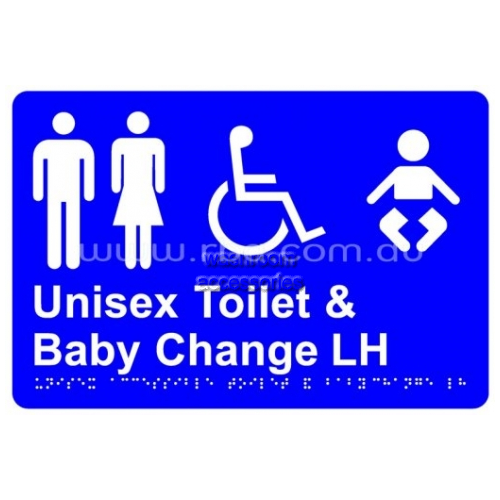 View Braille Sign RBA4330 Unisex Disabled Toilet LH and Baby Change details.