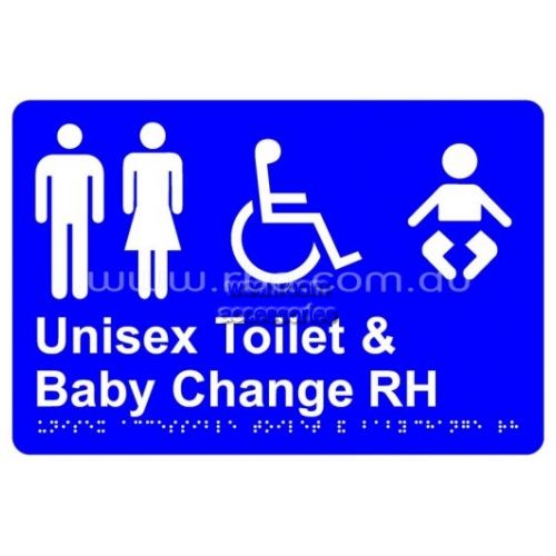 View Braille Sign RBA4330 Unisex Disabled Toilet RH and Baby Change details.