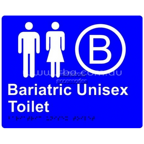 View Braille Sign RB4330 Bariatric Unisex Toilet details.