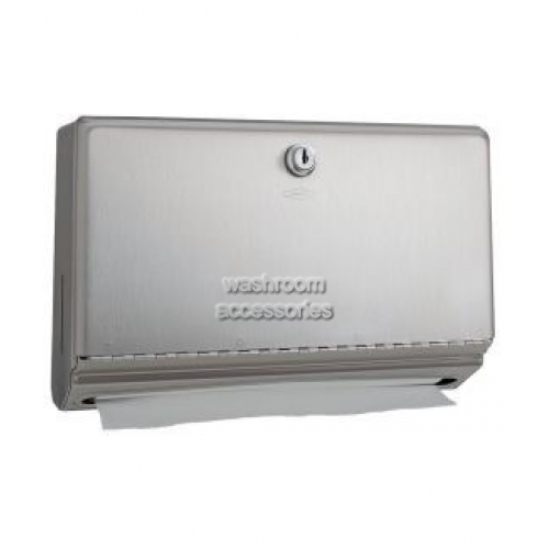View B26212 Mini Paper Towel Dispenser with Tumbler Lock details.