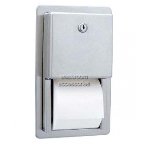 View B3888 Dual Toilet Tissue Dispenser Recessed details.