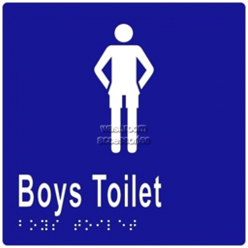 View ML16243 Braille Sign, Boys Toilet details.