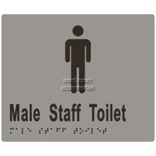 View ML16244 Braille Sign, Male Staff Toilet details.