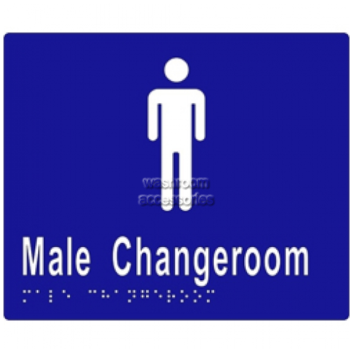 View ML16245 Braille Sign, Male Change Room details.