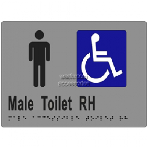 View ML16248 Braille Sign, Accessible Male Toilet RH Transfer details.