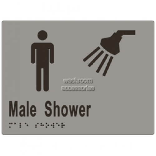 View ML16291 Braille Sign, Male Shower details.