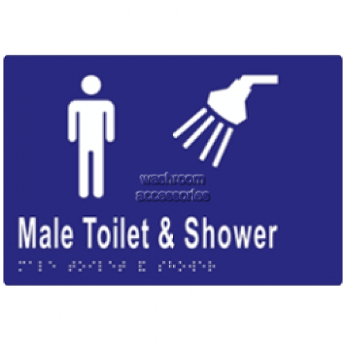 View ML16291TS Braille Sign, Male Toilet and Shower details.