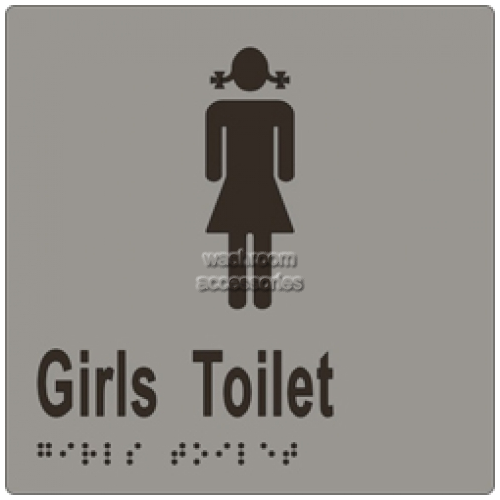 View ML16263 Braille Sign, Girls Toilet details.