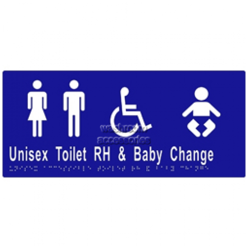View ML16286 Braille Sign, Unisex Accessible Toilets RH and Baby Change details.
