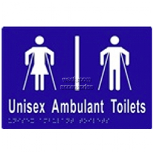 View ML16305 Braille Sign, Unisex Ambulant Toilet Divided details.