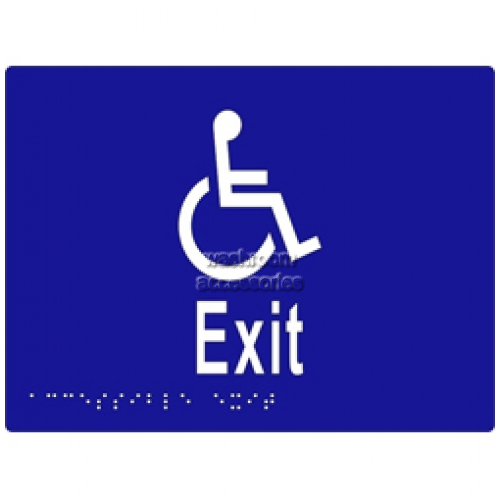 View ML16236 Braille Sign, Accessible Exit details.