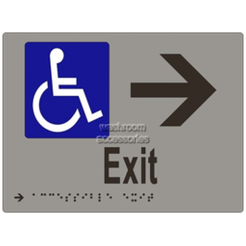 View ML16237 Braille Sign, Accessible Exit and Arrow details.