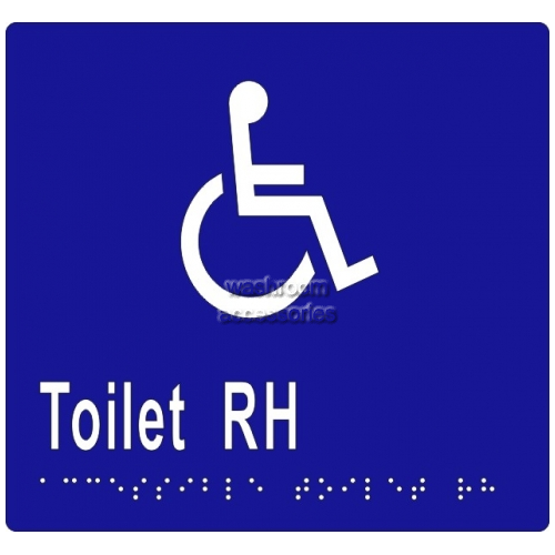 View ML16271 Braille Sign, Accessible Toilets RH Transfer details.