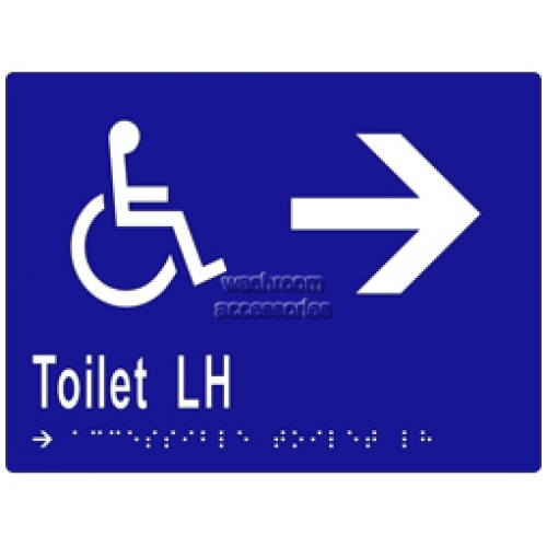 View ML16272 Braille Sign, Accessible Toilets LH Transfer and Arrow details.