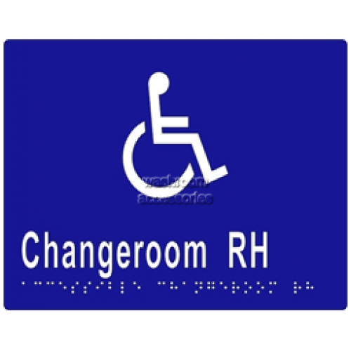 View ML16275 Braille Sign, Accessible Changeroom RH Transfer details.