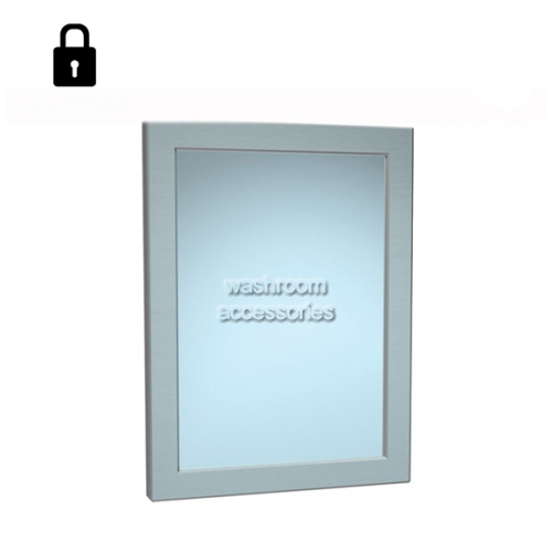 View 101-14 Stainless Steel Mirror with Frame, Rear Mounting details.