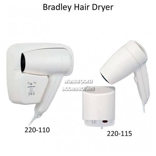 View 220 Dual Heat Hair Dryer Wall Mount details.