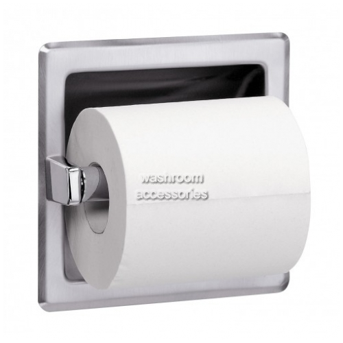 View 5105 Toilet Roll Dispenser Recessed with Spare Storage details.