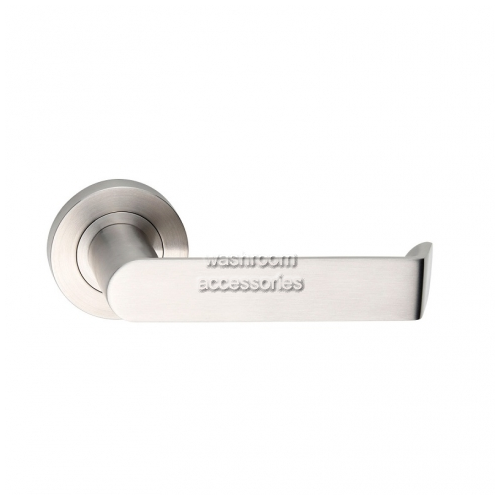 View L21-S Door Handle Round Rose, Single details.