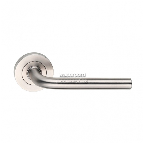 View L40-S Door Handle Round Rose Curved, Single details.