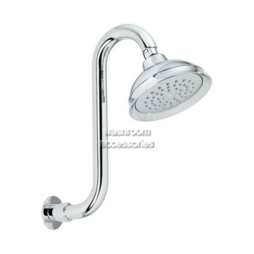 View OH005E Shower Head Swan Neck details.