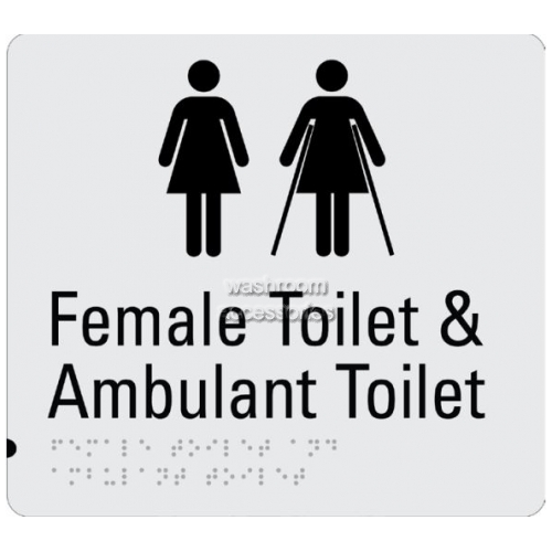 View Braille Sign RBA4330-830 Female Toilet and Female Ambulant Toilet details.