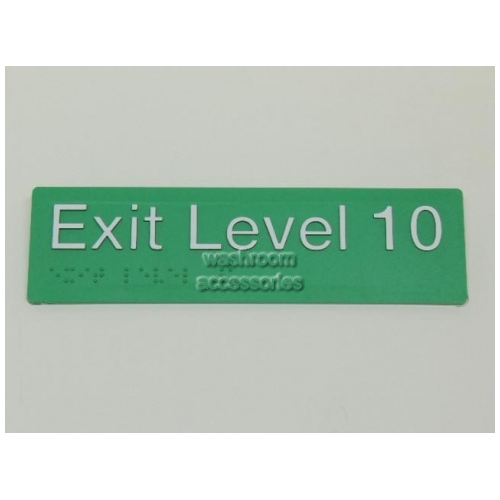 View EL10 Braille Exit Sign Level 10 details.