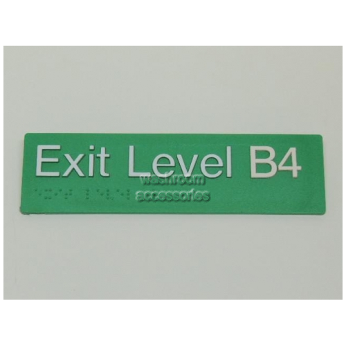 View EB4 Braille Exit Sign Level Basement 4 details.