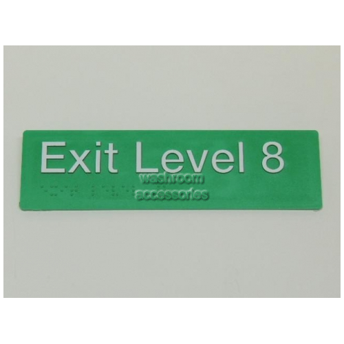 View EL8 Braille Exit Sign Level 8 details.