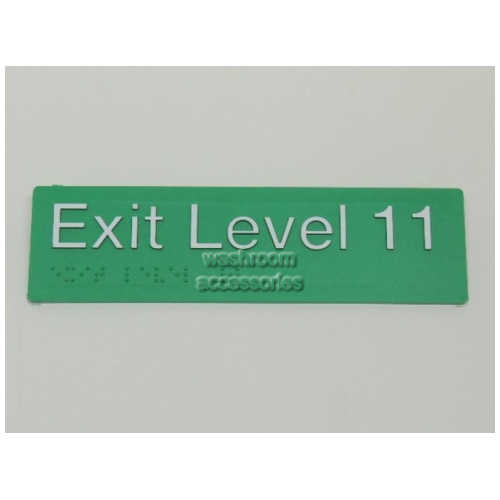 View EL11 Braille Exit Signs Level 11 details.