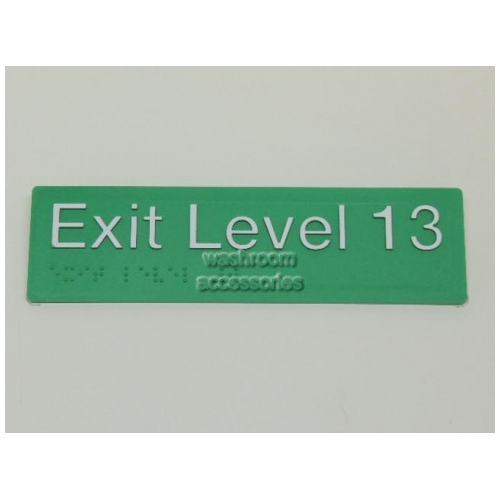 View EL13 Braille Exit Signs Level 13 details.