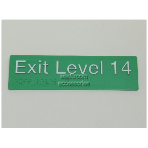 View EL14 Braille Exit Signs Level 14 details.