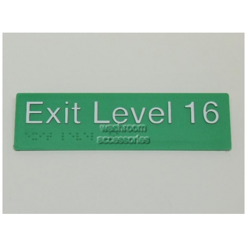View EL16 Braille Exit Signs Level 16 details.