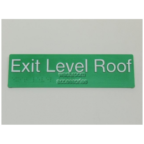 View ELROOF Braille Exit Sign Roof Level details.