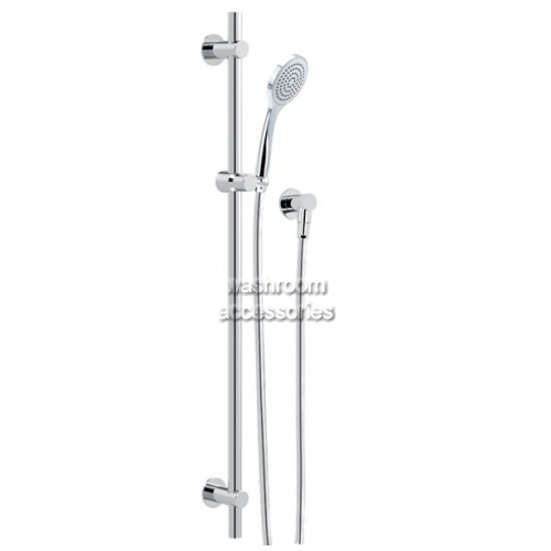View HS020J Streamjet Shower Head on Rail details.