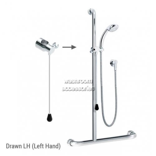 ID01820 Rail Shower Kit with Rod Left Hand