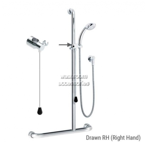 View ID01820 Rail Shower Kit with Rod Right Hand details.