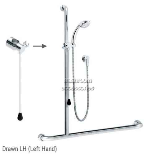 View ID01821 Rail Shower Kit with Rod Left Hand details.