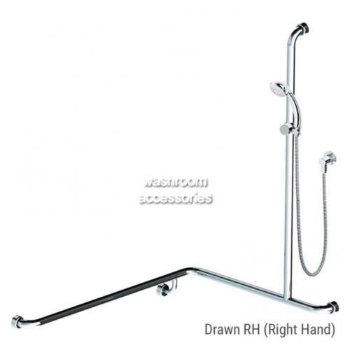 View HS01805 Shower and Rail Kit 5 Right Hand details.